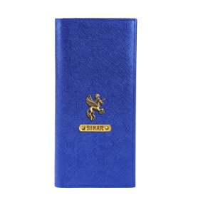 Personalized Travel Wallet - Electric Blue
