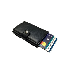 Personalised Single RFID Mens Wallet - Carbon Black