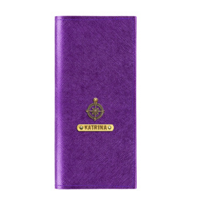 Personalized Travel Wallet - Electric Purple