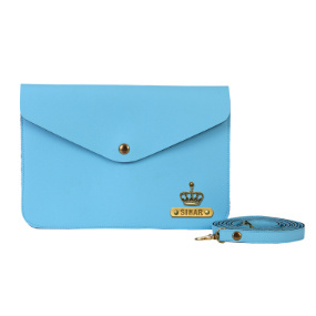 Personalized Women's Medium Clutch - Sky Blue