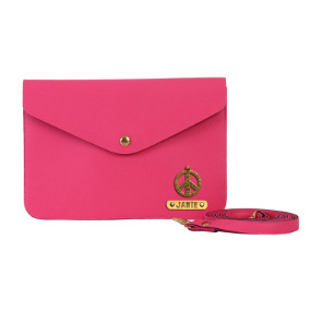 Personalized Women's Medium Clutch - Hot Pink