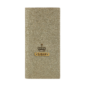 Personalized Travel Wallet - Glitter Gold