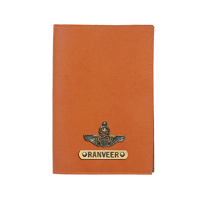 Personalized Passport Cover - Orange