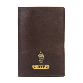 Personalized Passport Cover - Coffee