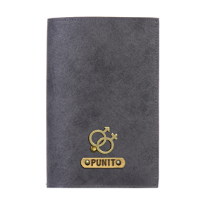 Personalized Passport Cover - Grey
