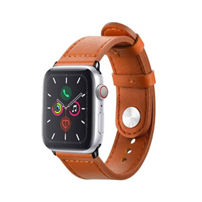 Personalized Apple Watch Band 42/44mm - Chocolate Brown