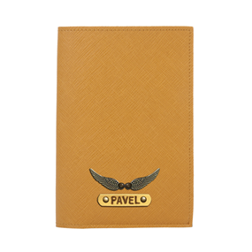Personalized Passport Cover - Mustard