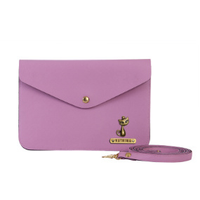 Personalized Women's Medium Clutch - Lavender