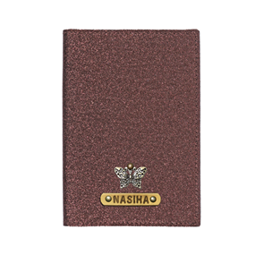 Personalized Passport Cover - Glitter Bronze