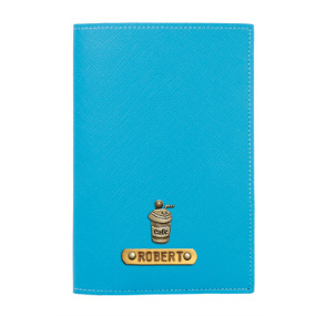 Personalized Passport Cover - Tiffany Blue