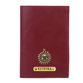 Personalized Passport Cover - Deep Maroon