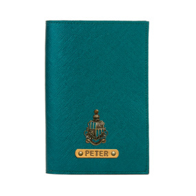 Personalized Passport Cover - Electric Green