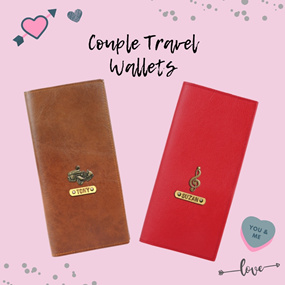Personalized Couple Travel Wallets