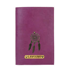 Personalized Passport Cover - Dark Purple
