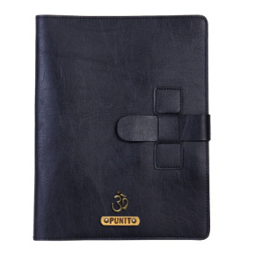 Personalized Work Folio - Carbon Black
