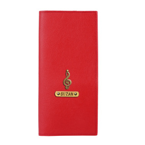 Personalized Travel Wallet - Red