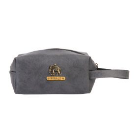 Personalized Toiletry Pouch - Grey