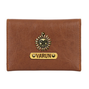 Personalized Business Card Holder - Chocolate Brown
