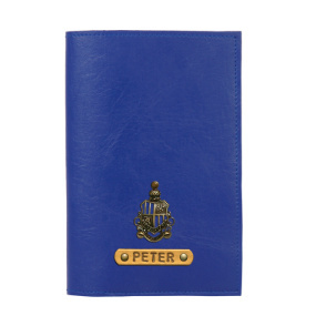 Personalized Passport Cover - Navy Blue